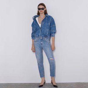 Zara   Slim Boyfriend in Laguna Blue Jeans 2
